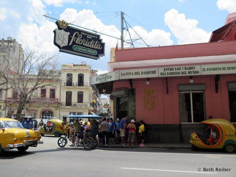 La Floridita, one of Ernest Hemingway's favorite bars in Havana