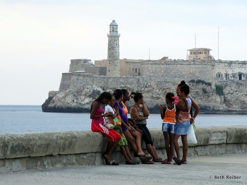 The Malecón, Havana's famous seawall, draws locals and tourists alike