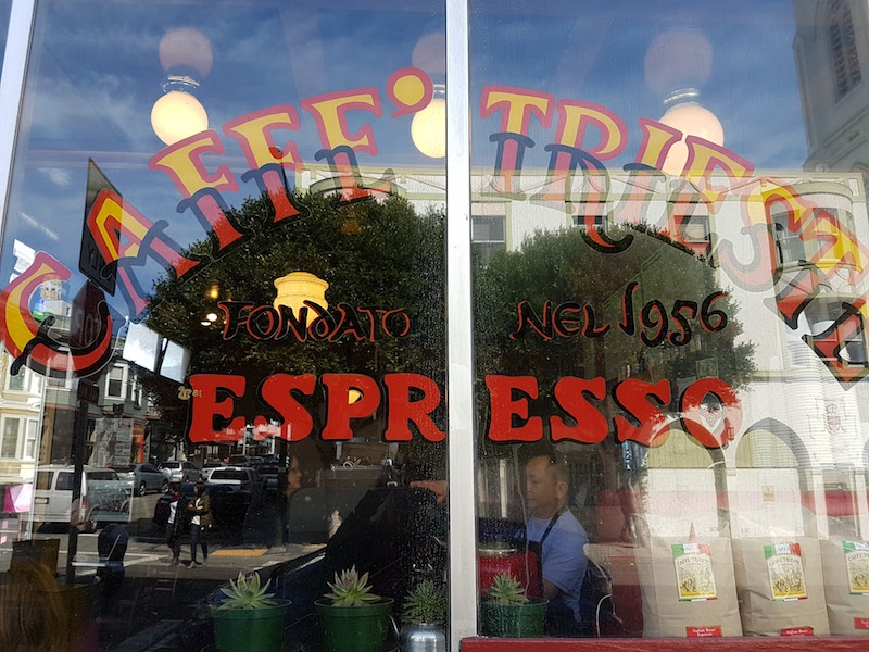 Caffee Trieste, the landmark North Beach cafe, is still a hangout for writers and loungers