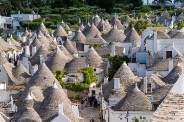 Numerous Trulli domed house