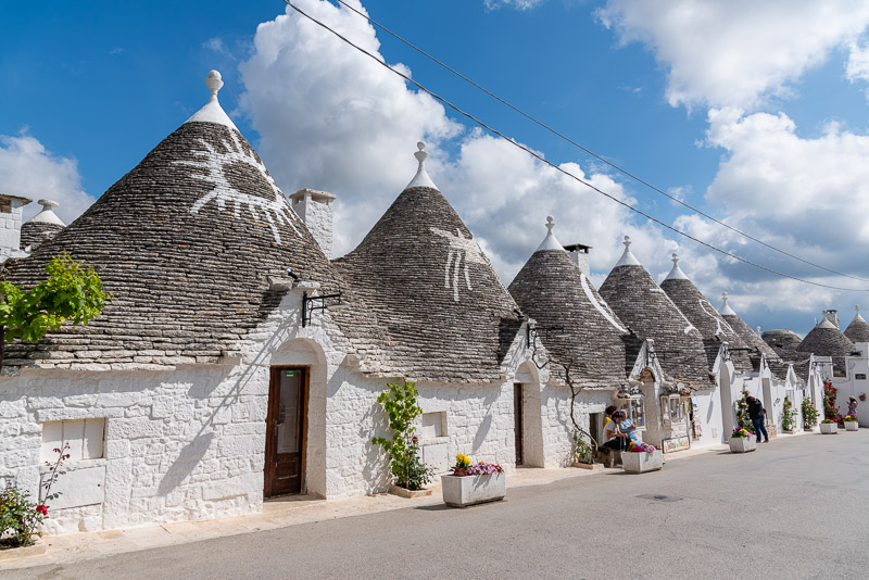 Alberobello trulli with 16th century symbols