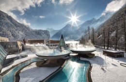 Austria's Aqua Dome wellness hotel is an ideal retreat after a day of skiing austria's Tyrolean Alps.