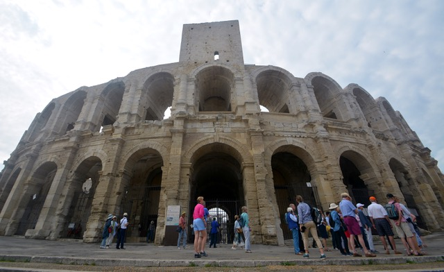Passengers ccan visit the Arles Coliseum while enjoying an Emerald Waterways Rhone River cruise.