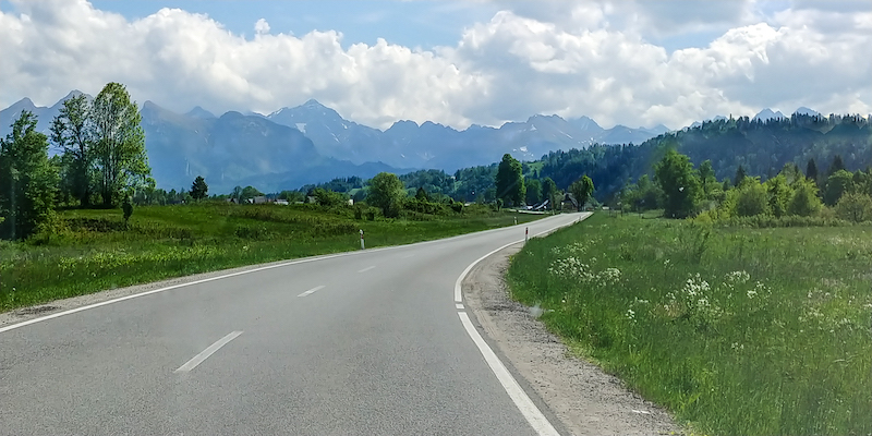 Driving south towards Zakopane