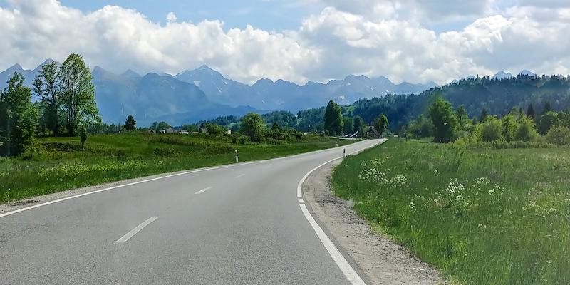 Driving south towards Zakopane
