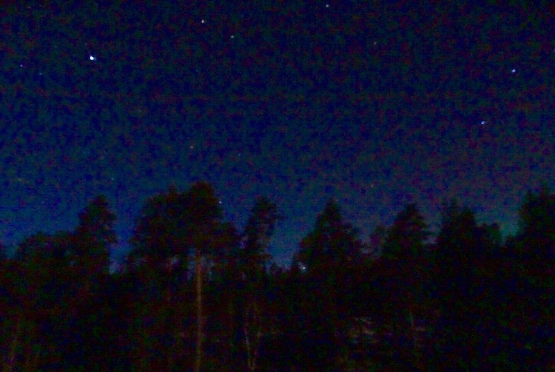 The Lapland night sky