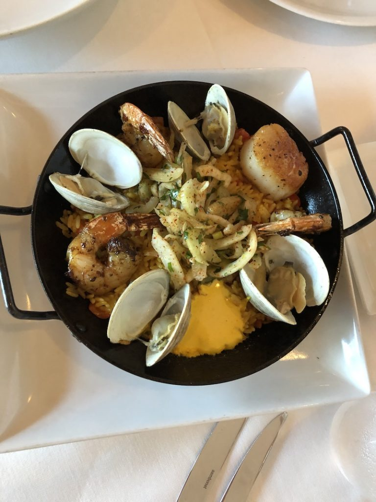 houston weekend: Paella lunch at Fig & Olive