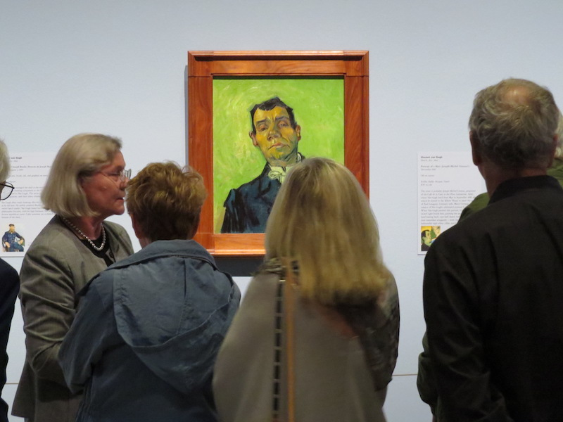 Houston weekend Tour group standing in front of a van Gogh painting at MFAH