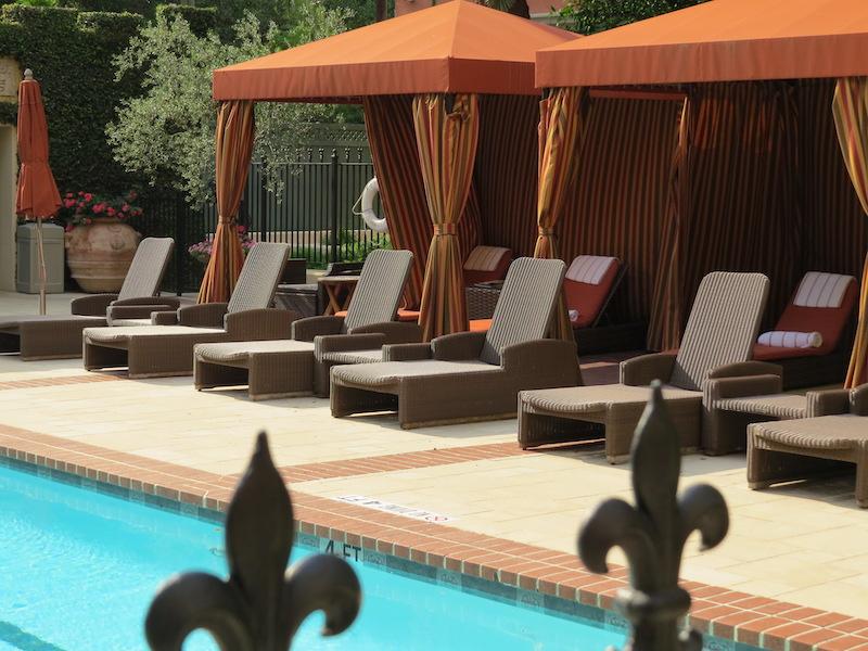 Inviting pool area at Hotel Granduca