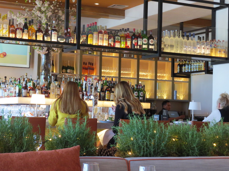 The bar at Fig & Olive Houston