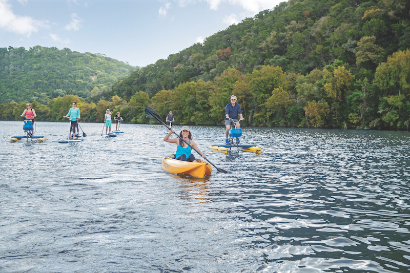 Kayaking and water activities on Lake Austin