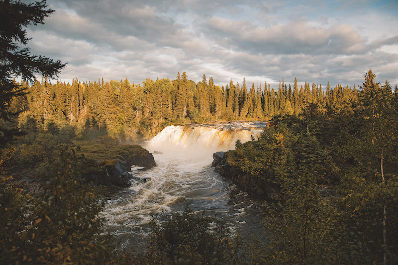 Nature Hot Spots in Manitoba and Saskatchewan - Pisew Falls (Credit: Travel Manitoba)