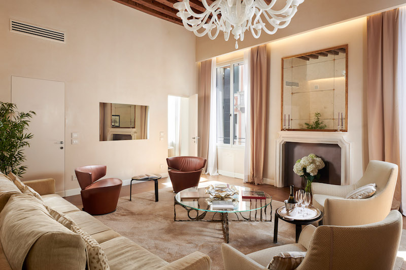 Palazzo Morosini apartments feature Venetian architecture and state-of-the-art electronics