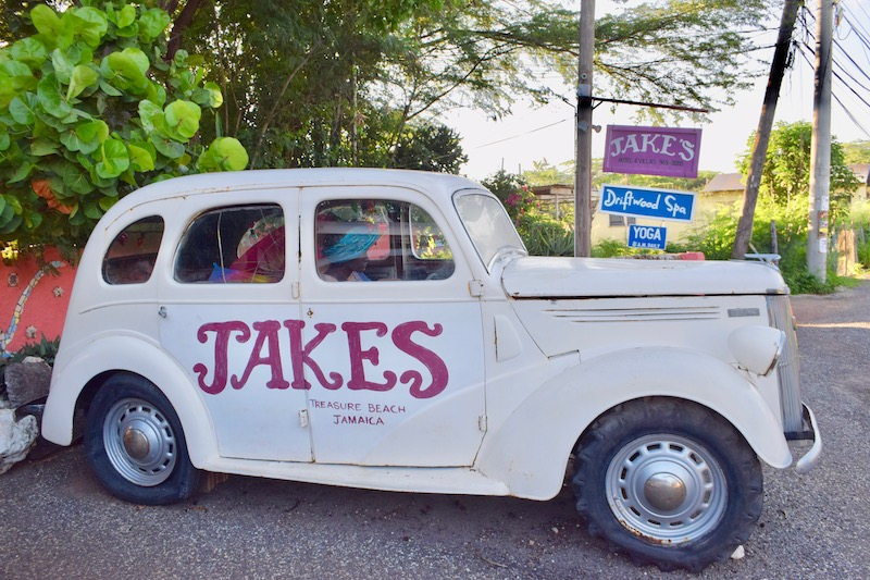 The eye-catching vehicle outside Jakes
