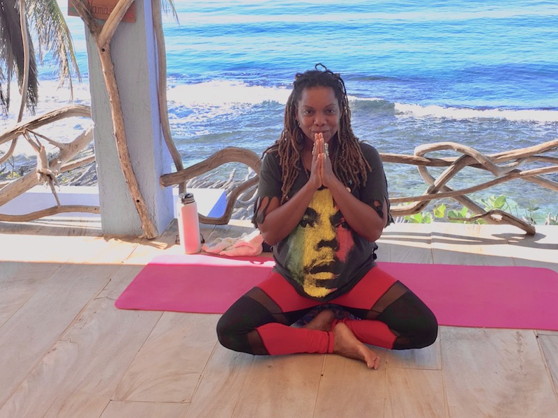 Our yoga teacher, Thandi Wise