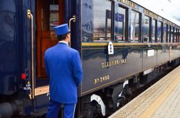 Getting ready to board the train from Venice to Paris on the Orient Express