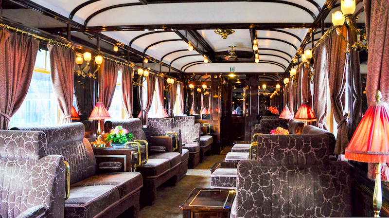 From Venice to Paris on the Orient Express: Bar and Piano Car