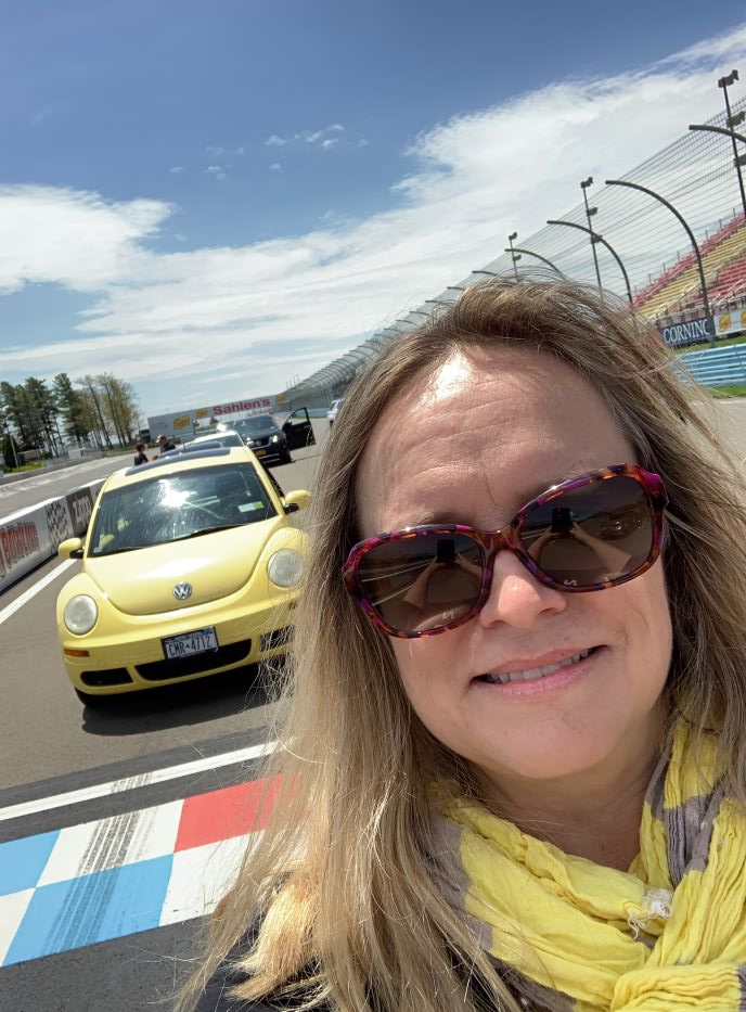 GOT contributing writer Lori Tripoli at Watkins Glen International Raceway