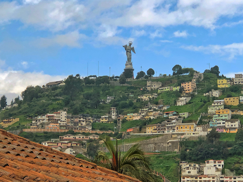 The Panecillo Virgin keeps watch over Quito. ©Alison Abbott