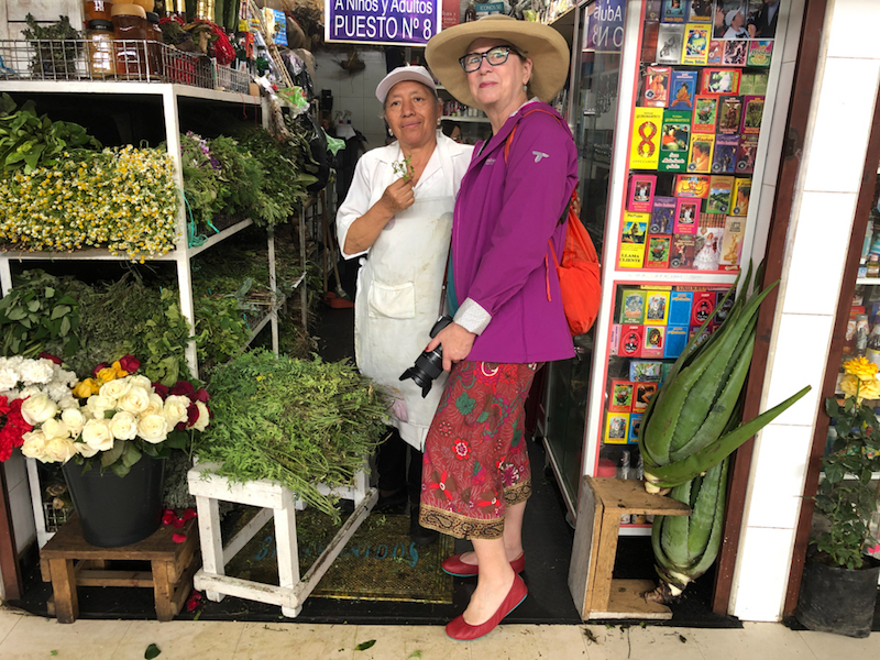 The author takes part in a limpia healing experience in Quito. @Alison Abbott