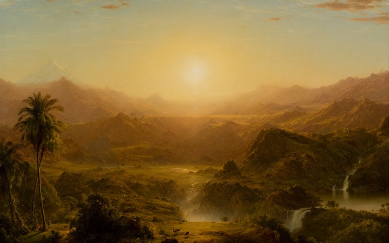 The Andes of Equador painting by Frederic Edwin Church