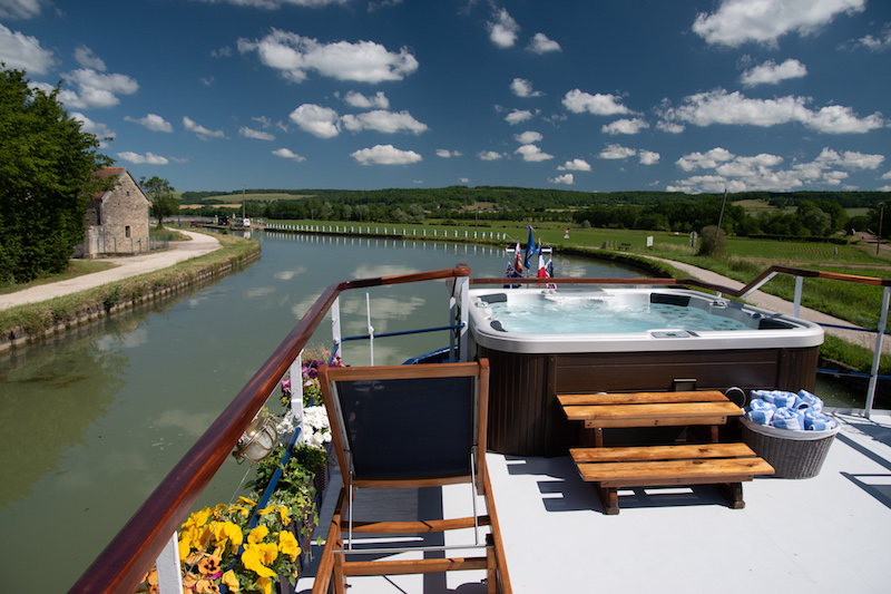 Cruising down the Burgundy Canal on a canal barge cruise with European Waterways