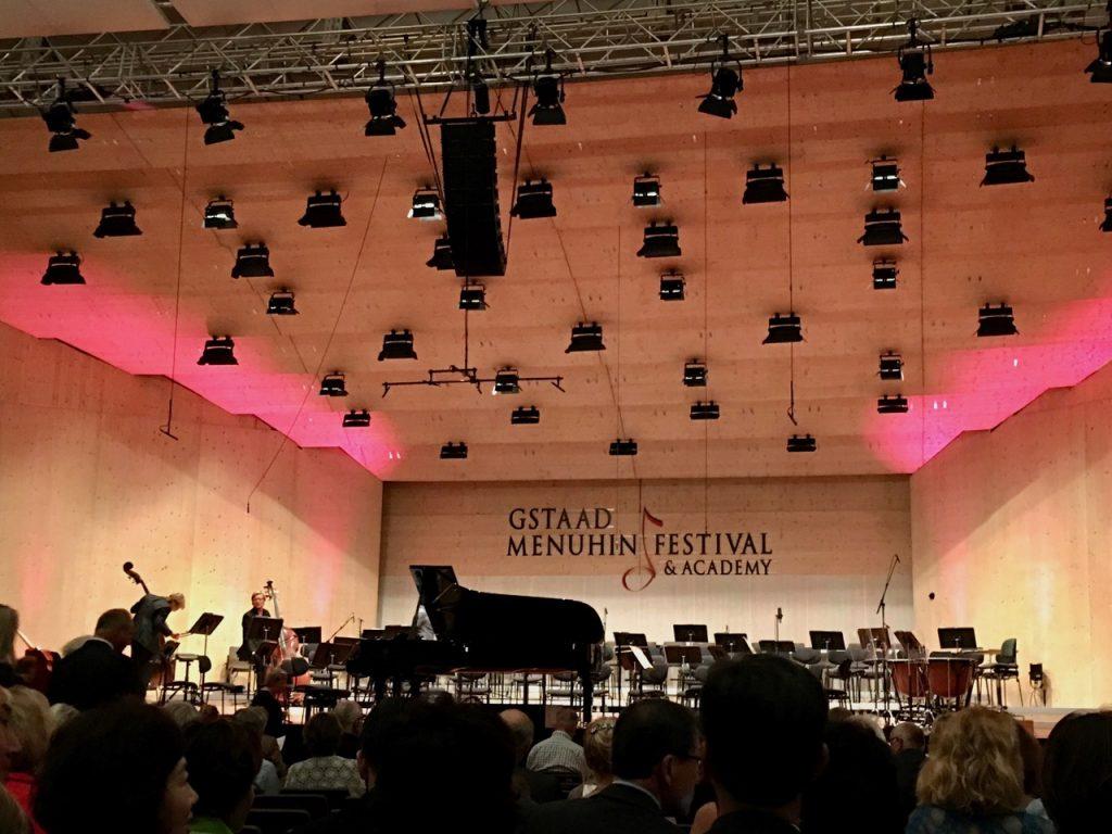 Menhuin concert tent in Gstaad