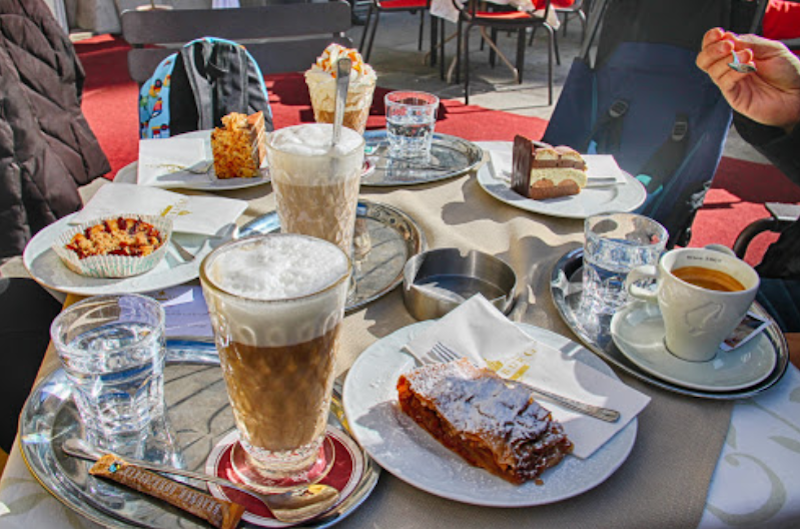 Café Hofburg, located in the Imperial Palace, serves about a dozen styles of coffee, and there's a pastry to match every coffee-of-choice. Courtesy: Tourism Wiens.
