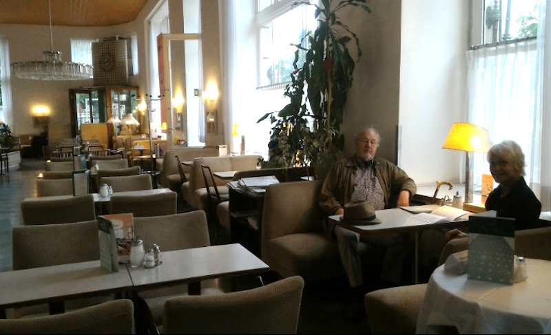 Coffee House Culture: The more modern-looking Café Pruckel sticks to tradition: patrons are allowed to linger for hours. Courtesy: Café Pruckel