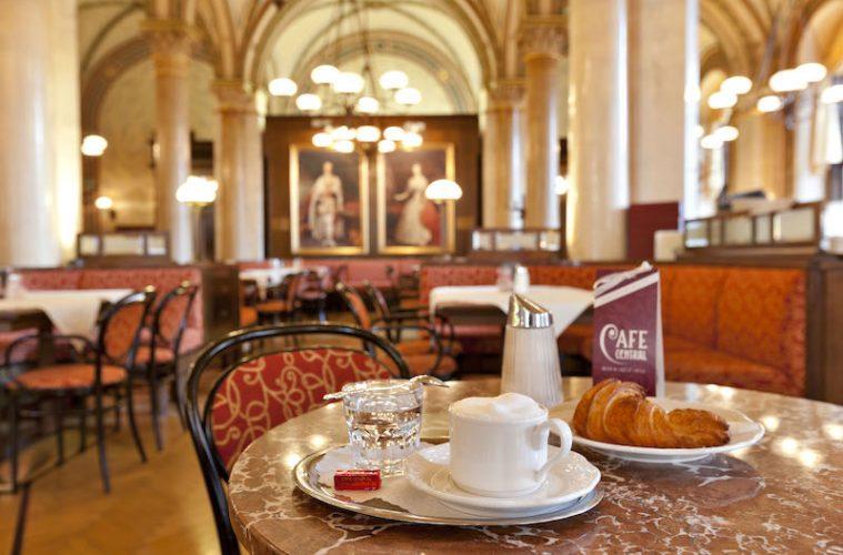 melange_kipferl-Café Central at Palais Ferstel, Vienna1