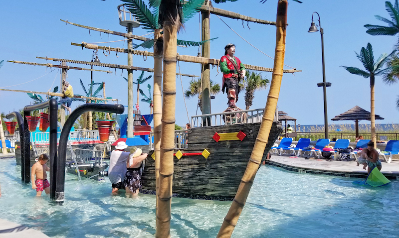 Myrtle Beach Kids Activities: Pirate ship at Shipwreck Lagoon is a real hit