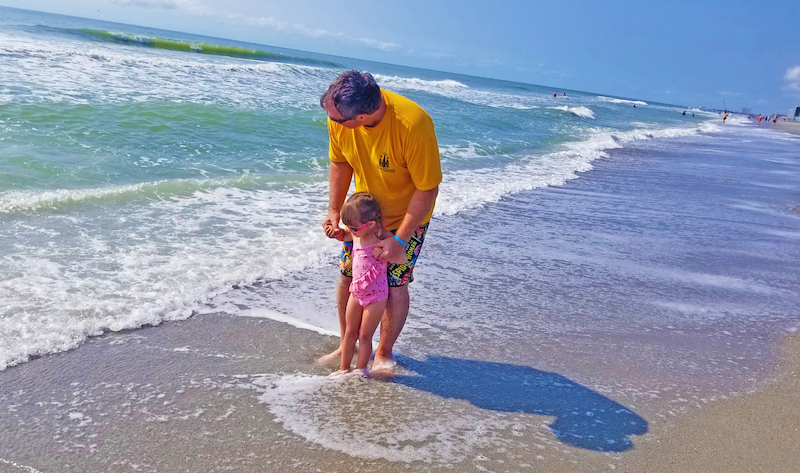 Myrtle Beach Kid Friendly Activities: Blairs first time in the ocean