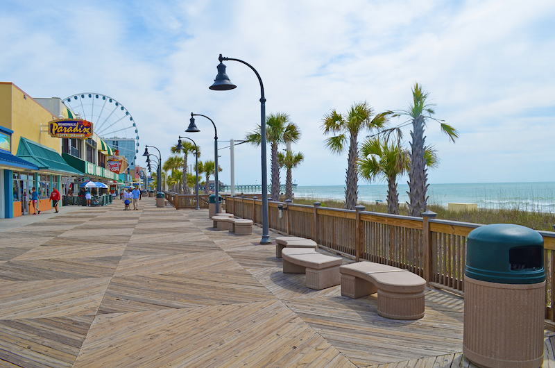 The charming boardwalk offers something for visitors of every age