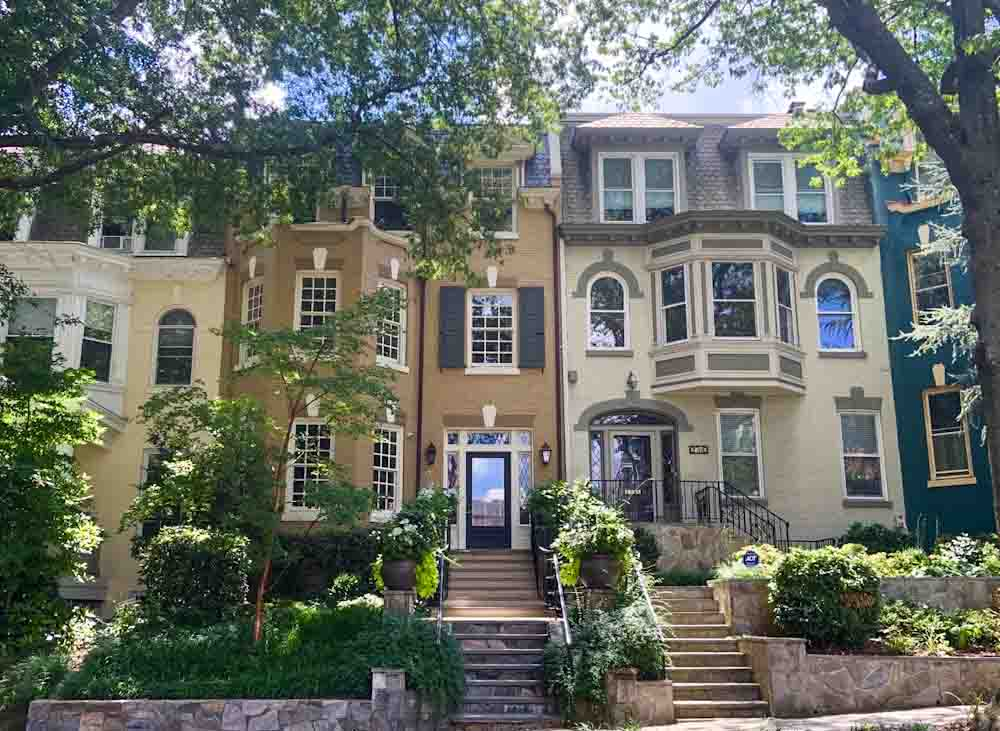 Dreamy DC: Historic row houses on Cathedral Ave near the Wardman Hotel