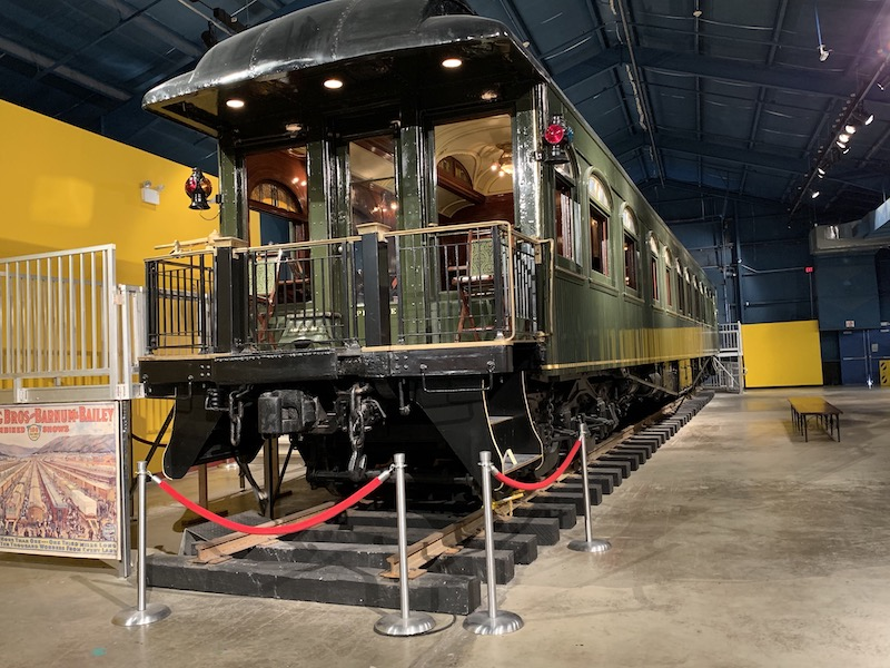 What To Do in Sarasota: John Ringling's original train is on display at The Ringling Circus Museum