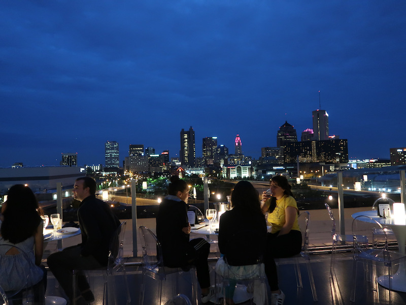Rooftop Juniper with sweeping views of downtown Columbus