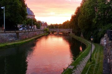 Getting around Europe: A canal in Strasbourg France