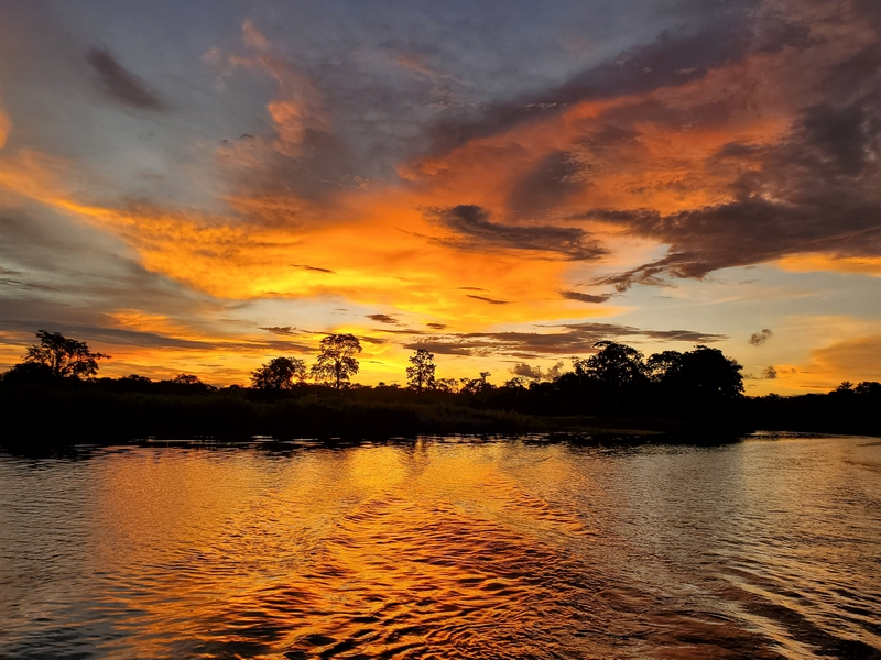 A Peruvian Amazon sunset