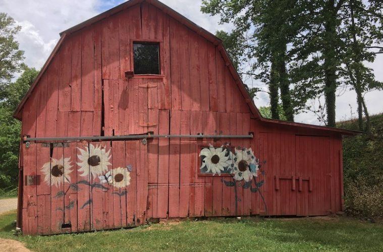 Barn on the Engadine property