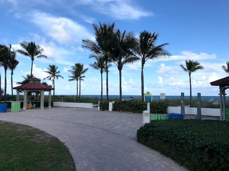 An inviting pocket park near the beach in LBTS