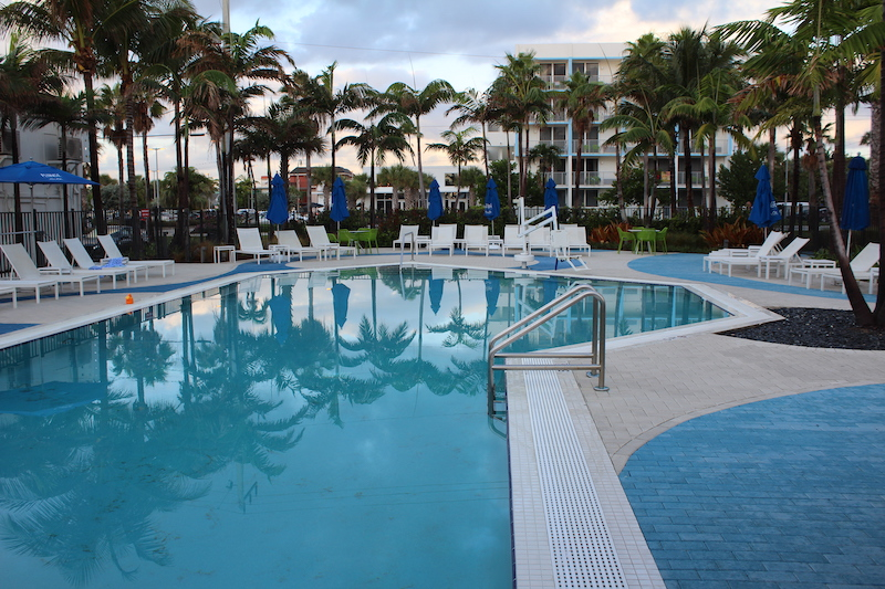 One of two pools at Plunge Beach Resort in Lauderdale-by-the-Sea