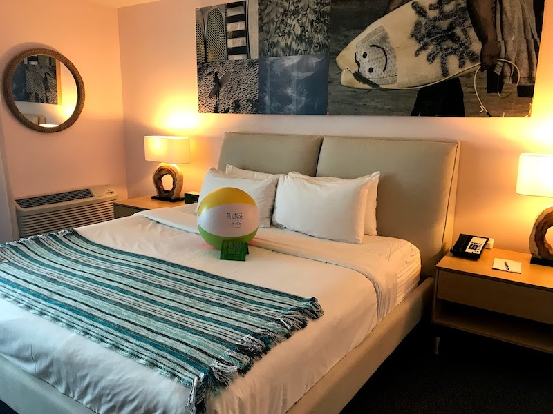 A King room at Plunge Beach Resort