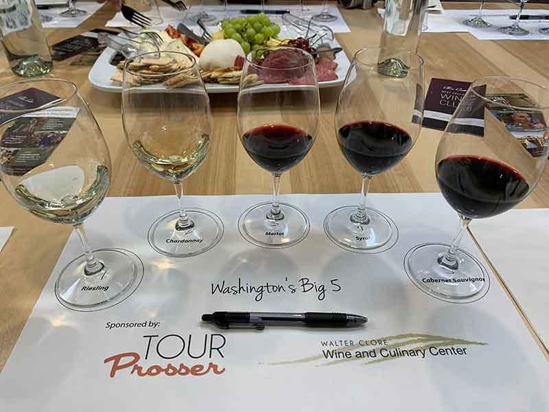 Washington Big 5 wine tasting