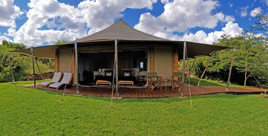 Tented camp at Loisaba