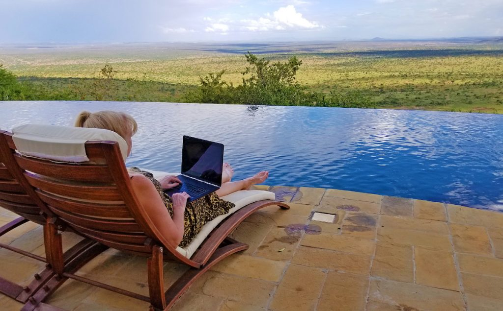 Kenya Luxury Safari: The relaxing infinity pool with panoramic views at Loisaba
