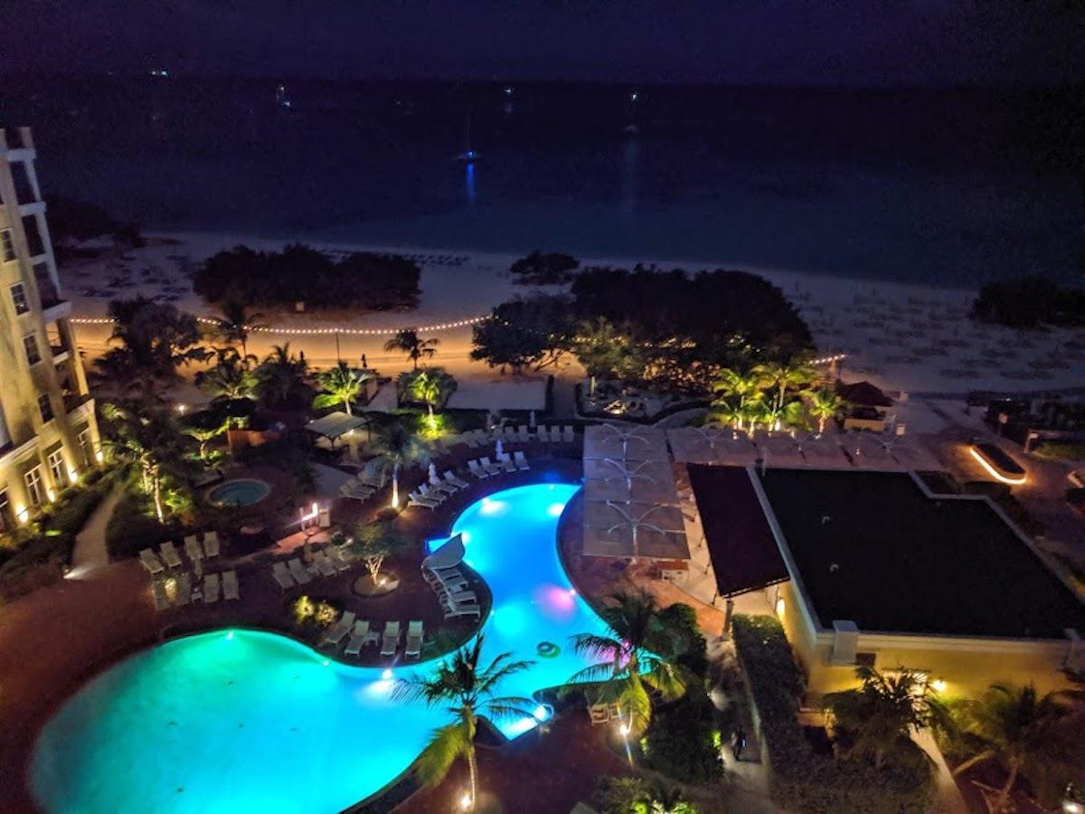 The Ritz-Carlton, Aruba at night