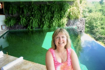 GOT Contributor Doreen Pendgracs at Jade Mountain in St. Lucia, one of her favorite places