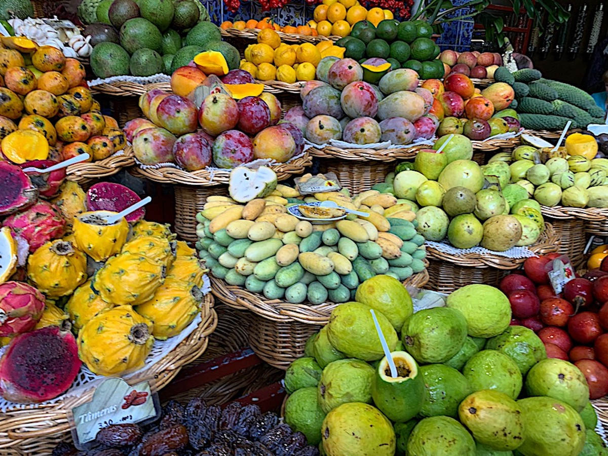 Fresh fruit at the Mercado Dos Lavradores Funchal
