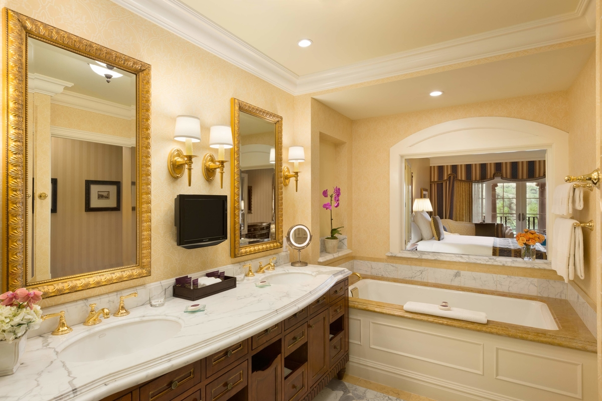 Guest bathroom at the Fairmont Grand Del Mar
