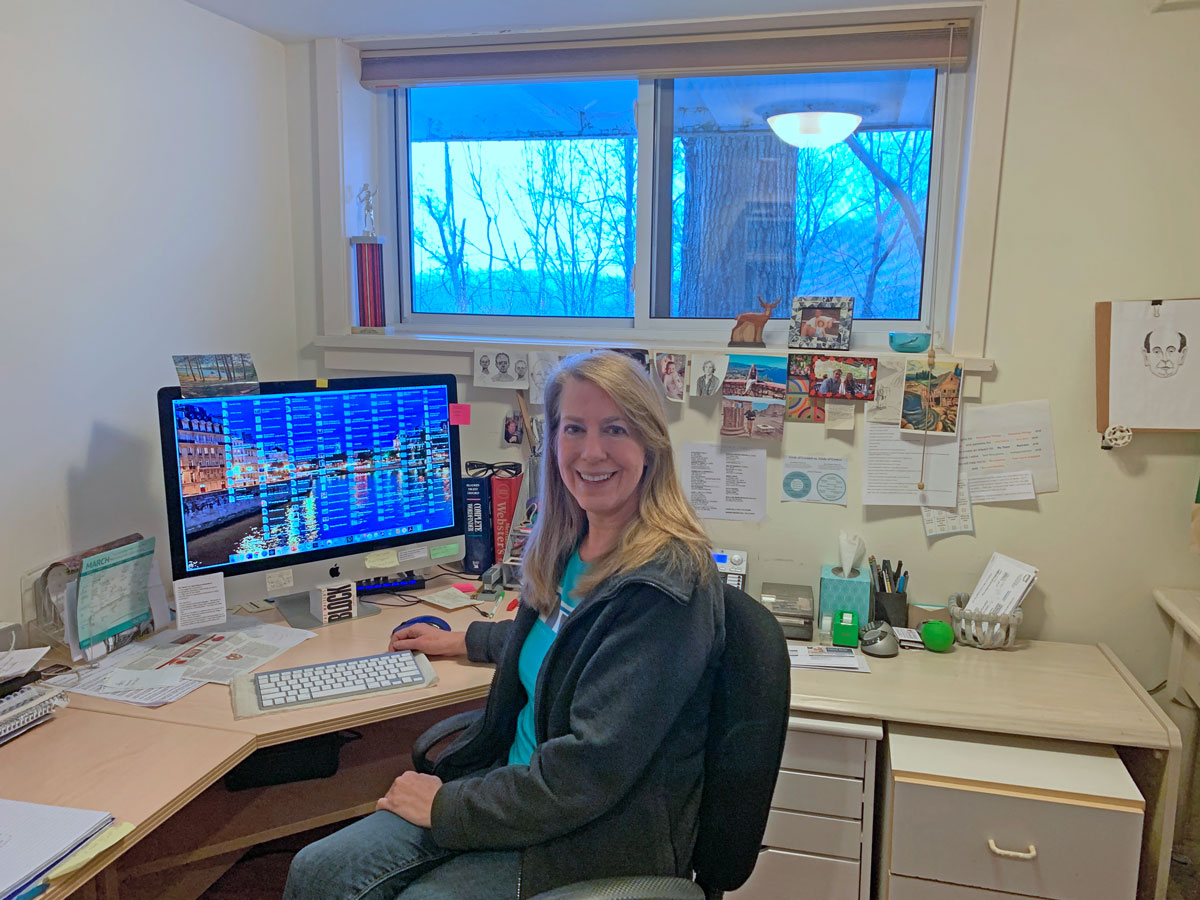 Mount Kisco, NY: Laura E. Kelly in her home office